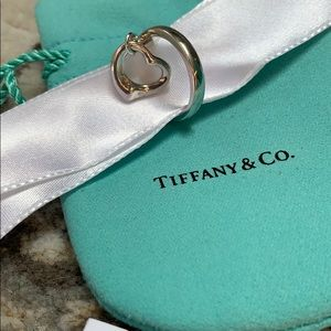 Tiffany & Co. Elsa Peretti RARE Heart Charm Ring